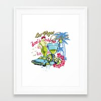 las vegas Framed Art Prints featuring Las Vegas by Tshirt-Factory