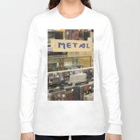 metal Long Sleeve T-shirts featuring Metal by Bingz