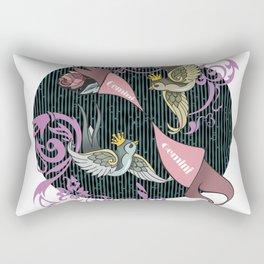 Gemini zodiac Rectangular Pillow