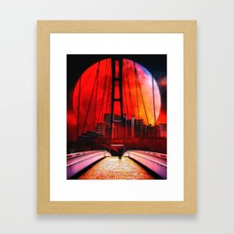 Big moon Framed Art Print