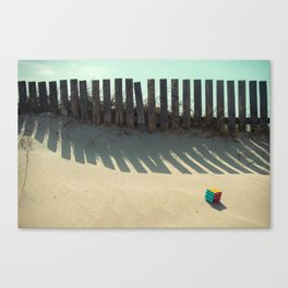 Rubik shading in the beach Canvas Print