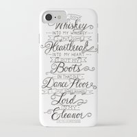 whiskey iPhone & iPod Cases featuring Whiskey In My Whiskey by Erika Leahey