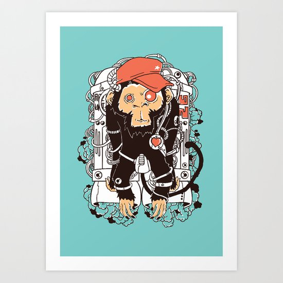 Rocket Monkeys Art Print