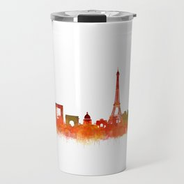 Paris City Skyline Hq v2 Travel Mug