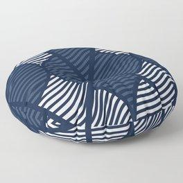 Indie in Navy Blue Floor Pillow