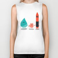 water color Biker Tanks featuring Water + color by Coconutman