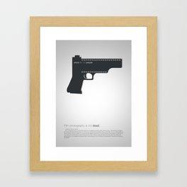 Shoot film not people Framed Art Print