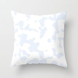 Large Spots - White and Pastel Blue Throw Pillow