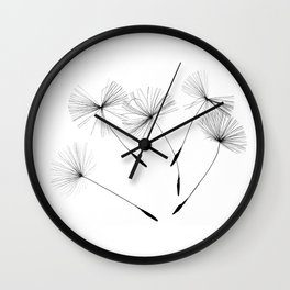 Dandelion seeds, Wall Clock