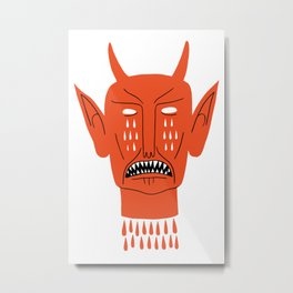 Devil's Head Metal Print