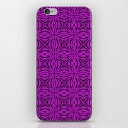 Black and Dazzling Violet Floral iPhone Skin