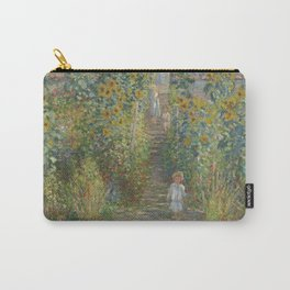 Claude Monet The Artist's Garden at Vétheuil 1880 Painting Carry-All Pouch
