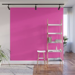 Fluorescent Neon Pink // Pantone® 806 U Wall Mural