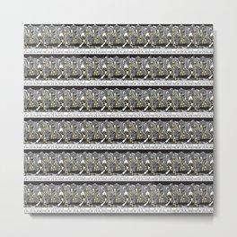 Mt Cook/Kowhai Stamp Collage Metal Print