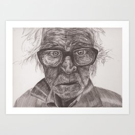 Heavy glasses Art Print