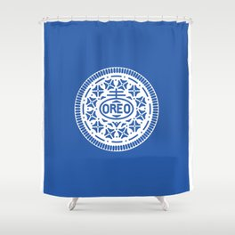 """OREO"" Biscuit poster Shower Curtain"