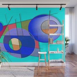 Les Bouclier Bleu Wall Mural