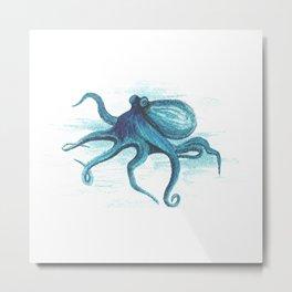 Octopuss Watercolour Painting Metal Print