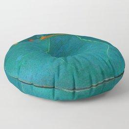 Two Sea Grape Leaves Floor Pillow