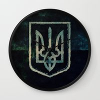 ukraine Wall Clocks featuring Ukraine by rudziox