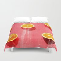 fruit Duvet Covers featuring fruit 5 by LEEMO
