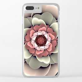 Fantasy spring flower Clear iPhone Case