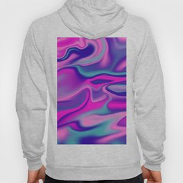 Liquid Bold Vibrant Colorful Abstract Paint in Blue, Pink and Purple Hoody