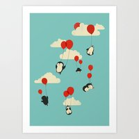 balloons Art Prints featuring We Can Fly! by Jay Fleck