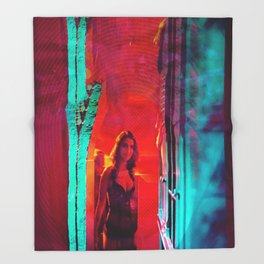 Colorblind Doorways Throw Blanket