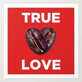 Coffee is Love - Red Art Print
