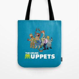 Drunk Muppets Cartoon Parody Tote Bag