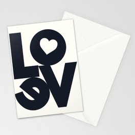 Love, tyopgraphy illustration, gift for her, people in love, be my Valentine, Romantic lettering Stationery Cards