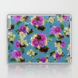 Floral Dachshund Laptop & iPad Skin