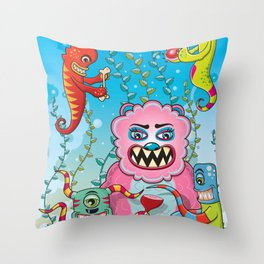 Flesh and Teeth's Throw Pillow