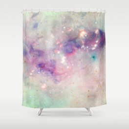 The colors of the galaxy Shower Curtain