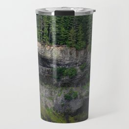 Beautiful Brandywine Falls in Rainforest Near Whistler, British Columbia Travel Mug