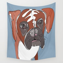 My Sad Boxer Dog Wall Tapestry