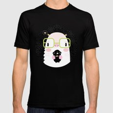 Monster and dog Mens Fitted Tee MEDIUM Black