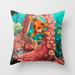 Under the glup... Throw Pillow