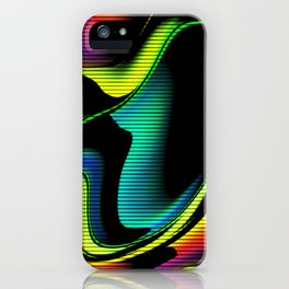 Hot abstraction with lines 4 iPhone Case