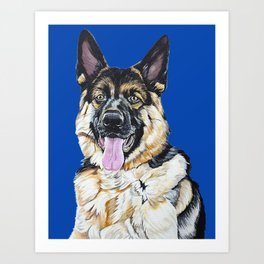Portrait of Sam the German Shepherd Art Print