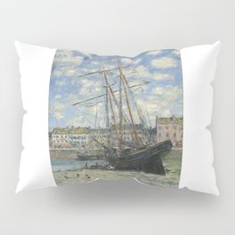 Claude Monet - Boats Lying at Low Tide at Facamp Pillow Sham