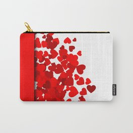Hearts falling out of an envelope Carry-All Pouch