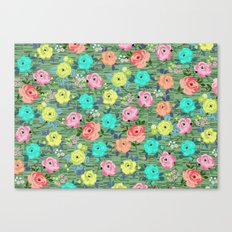 Roses of the Midcentury by Elisandra Canvas Print
