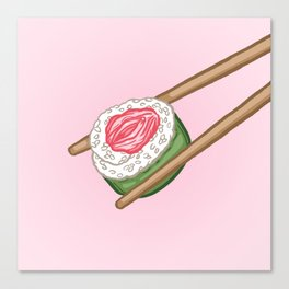 Pussy Sushi Canvas Print