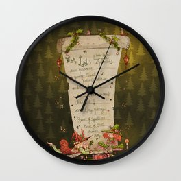 Wish List! Wall Clock