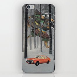 Dreaming in The Red Car iPhone Skin