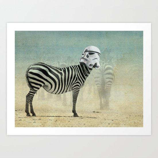 Trooper Stripes  _ Star Wars _ Zebra Art Print