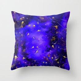 Cosmic Deep Blue-Purple Throw Pillow
