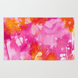 Pink Abstract Rug